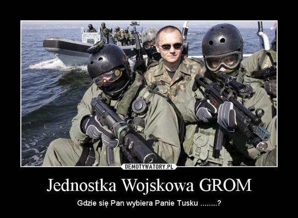 Jednostka Wojskowa GROM – Gdzie się Pan wybiera Panie Tusku ........?