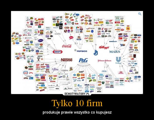 Tylko 10 firm – produkuje prawie wszystko co kupujesz
