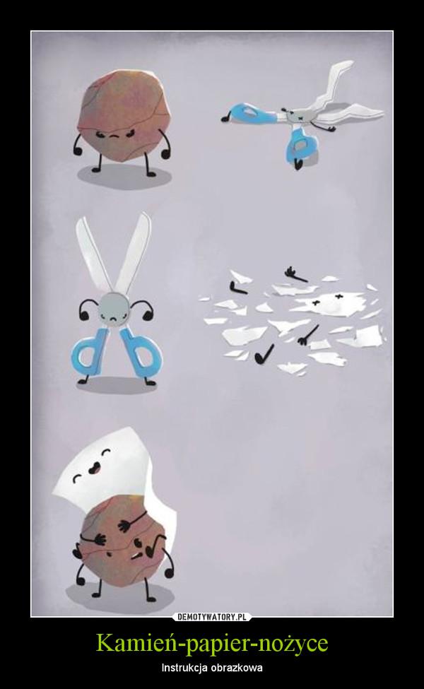 Kamień-papier-nożyce – Instrukcja obrazkowa
