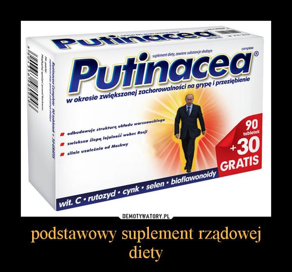 podstawowy suplement rządowej diety –