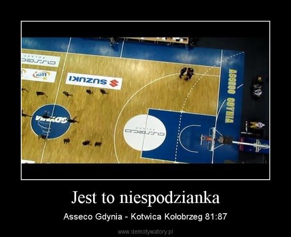 Jest to niespodzianka – Asseco Gdynia - Kotwica Kołobrzeg 81:87