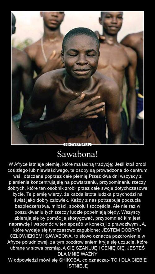 Sawabona!