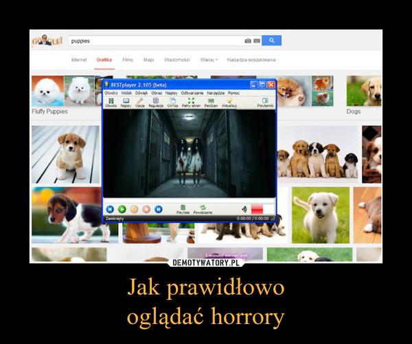 Jak prawidłowooglądać horrory –