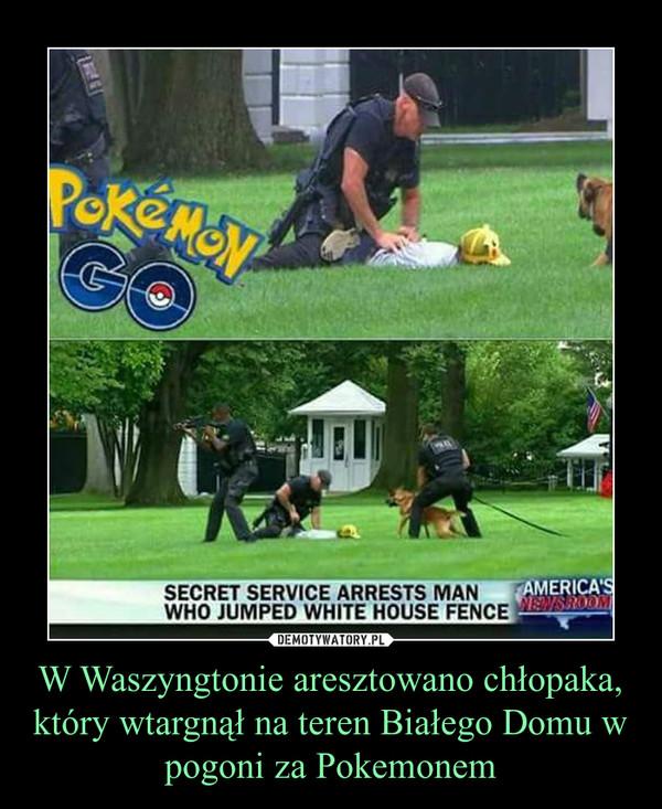 W Waszyngtonie aresztowano chłopaka, który wtargnął na teren Białego Domu w pogoni za Pokemonem –