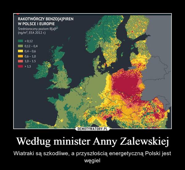Według minister Anny Zalewskiej – Wiatraki są szkodliwe, a przyszłością energetyczną Polski jest węgiel