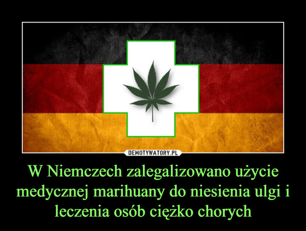 W Niemczech zalegalizowano użycie medycznej marihuany do niesienia ulgi i leczenia osób ciężko chorych –