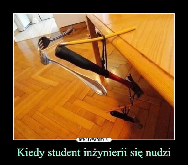 Kiedy student inżynierii się nudzi –