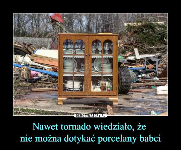 Nawet tornado wiedziało, że nie można dotykać porcelany babci –