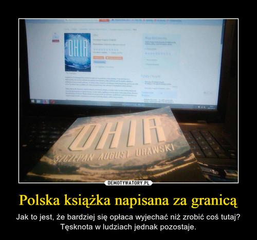 Polska książka napisana za granicą