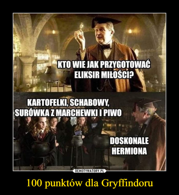 100 punktów dla Gryffindoru –
