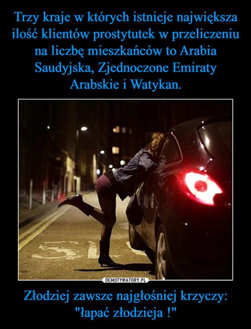 """Trzy kraje w których istnieje największa ilość klientów prostytutek w przeliczeniu na liczbę mieszkańców to Arabia Saudyjska, Zjednoczone Emiraty Arabskie i Watykan. Złodziej zawsze najgłośniej krzyczy: """"łapać złodzieja !"""""""