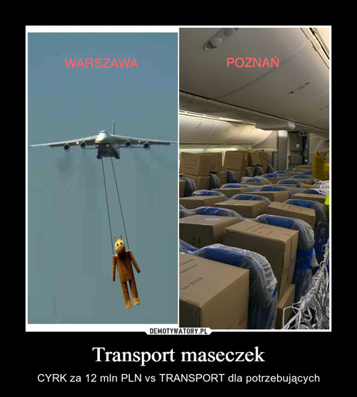 Transport maseczek