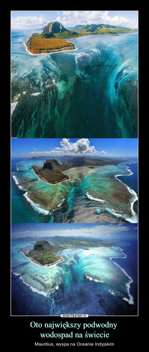 Oto największy podwodny  wodospad na świecie