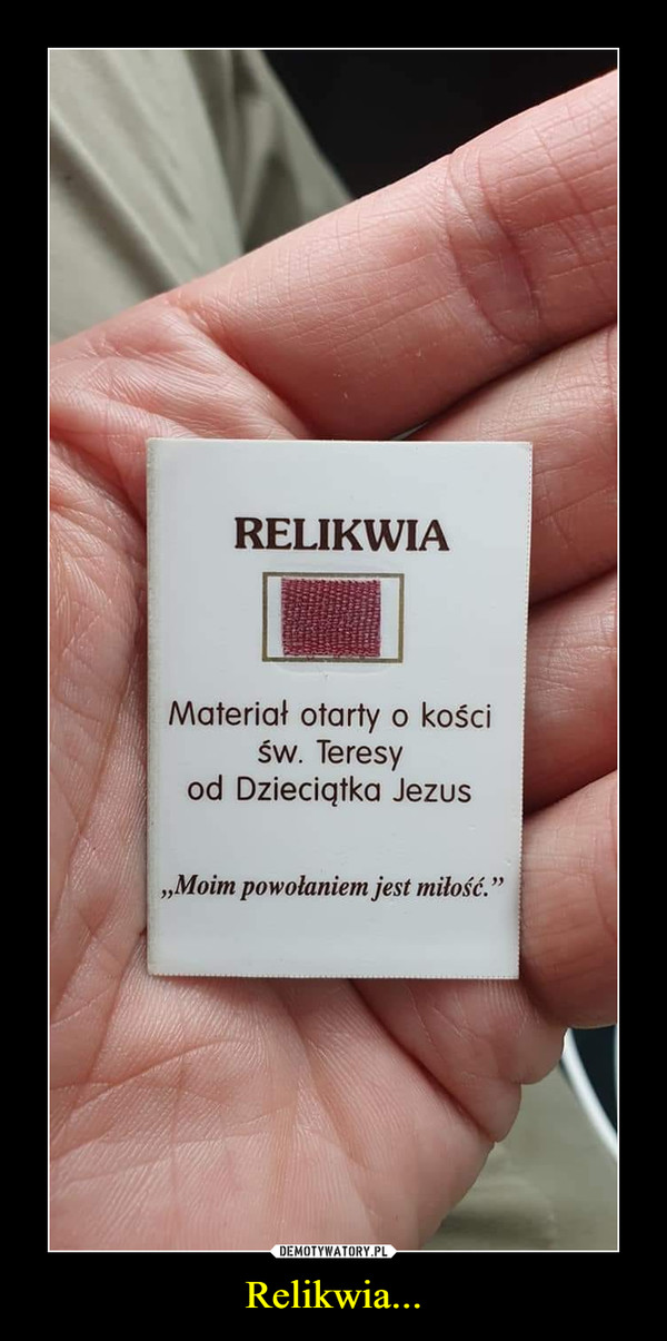 Relikwia... –