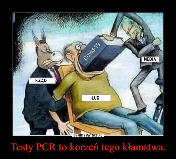 Testy PCR to korzeń tego kłamstwa. –
