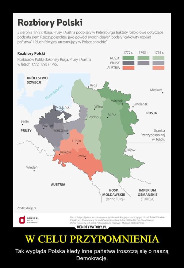 W CELU PRZYPOMNIENIA – Tak wygląda Polska kiedy inne państwa troszczą się o naszą Demokrację.