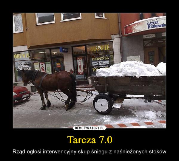 Tarcza 7.0 – Rząd ogłosi interwencyjny skup śniegu z naśnieżonych stoków