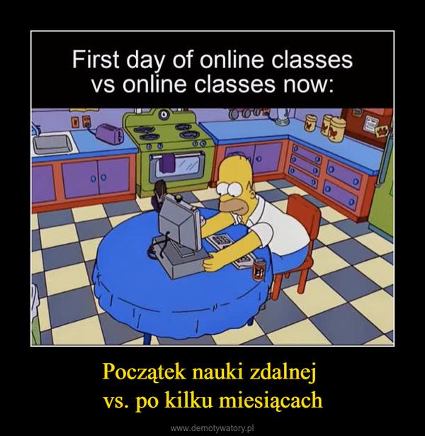 Początek nauki zdalnej vs. po kilku miesiącach –  First day of online classesvs online classes now:00