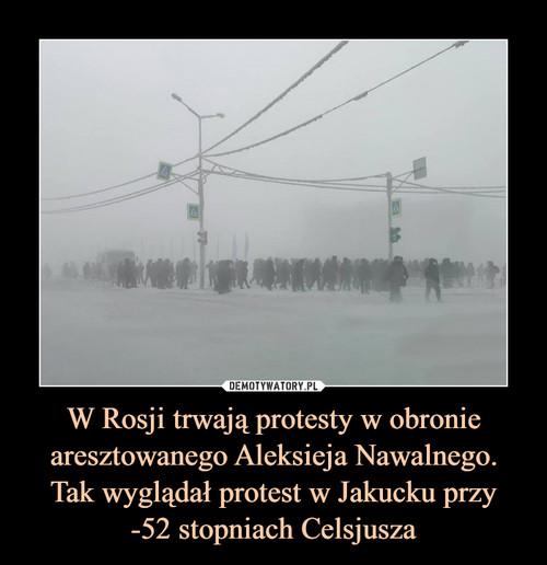 W Rosji trwają protesty w obronie aresztowanego Aleksieja Nawalnego. Tak wyglądał protest w Jakucku przy -52 stopniach Celsjusza