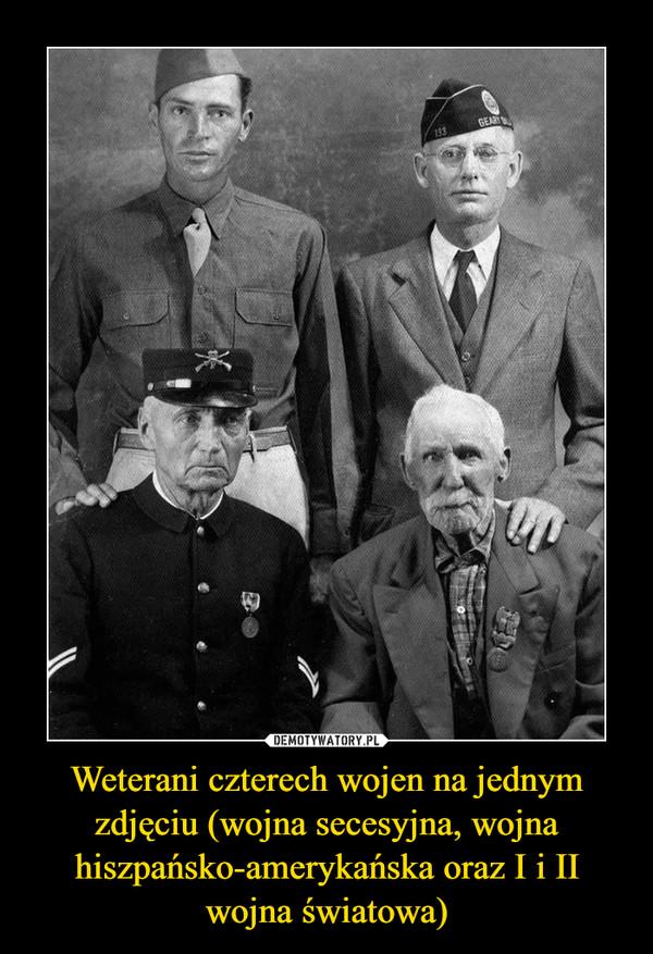 Weterani czterech wojen na jednym zdjęciu (wojna secesyjna, wojna hiszpańsko-amerykańska oraz I i II wojna światowa) –