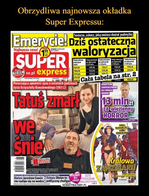 Obrzydliwa najnowsza okładka Super Expressu: