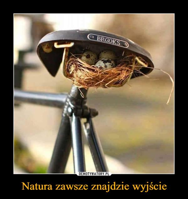 Natura zawsze znajdzie wyjście –