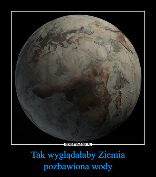 Tak wyglądałaby Ziemia pozbawiona wody