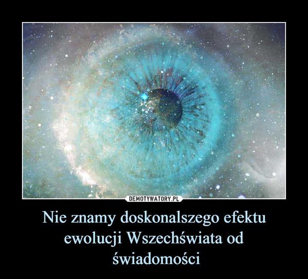 Nie znamy doskonalszego efektu ewolucji Wszechświata od świadomości –
