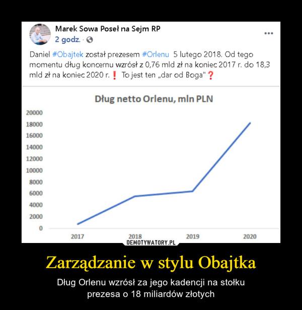 Zarządzanie w stylu Obajtka – Dług Orlenu wzrósł za jego kadencji na stołkuprezesa o 18 miliardów złotych