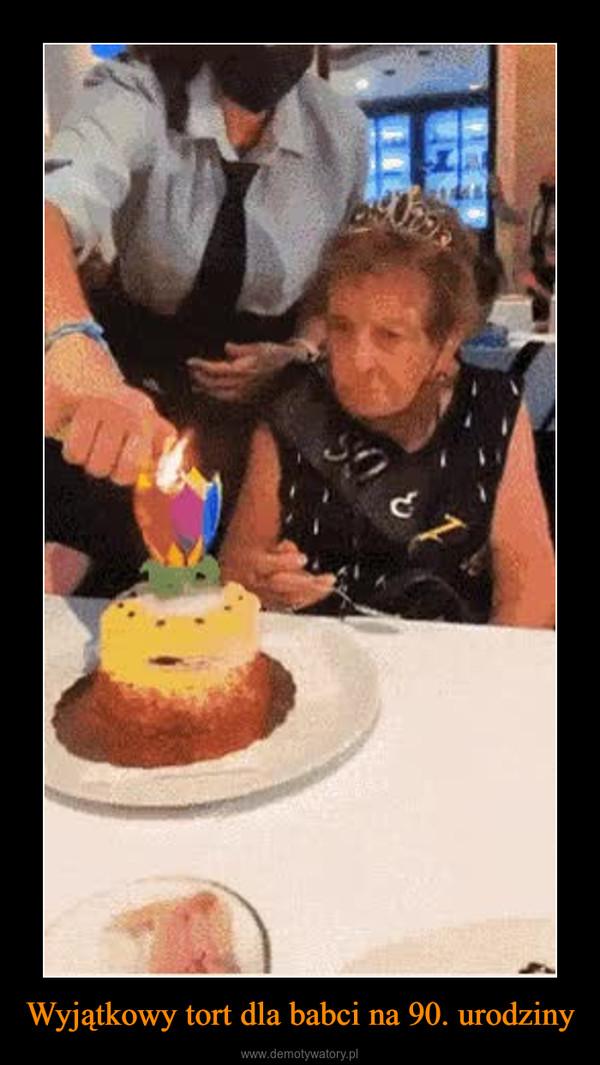 Wyjątkowy tort dla babci na 90. urodziny –