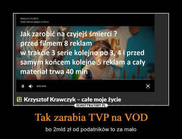 Tak zarabia TVP na VOD – bo 2mld zł od podatników to za mało