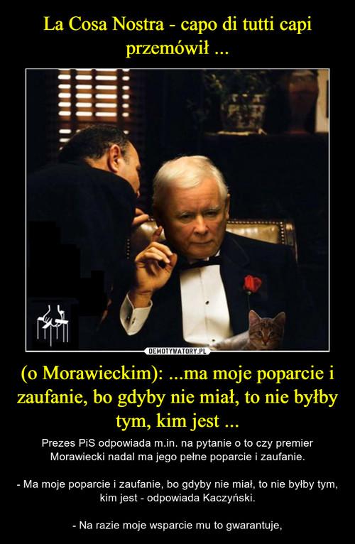 La Cosa Nostra - capo di tutti capi przemówił ... (o Morawieckim): ...ma moje poparcie i zaufanie, bo gdyby nie miał, to nie byłby tym, kim jest ...