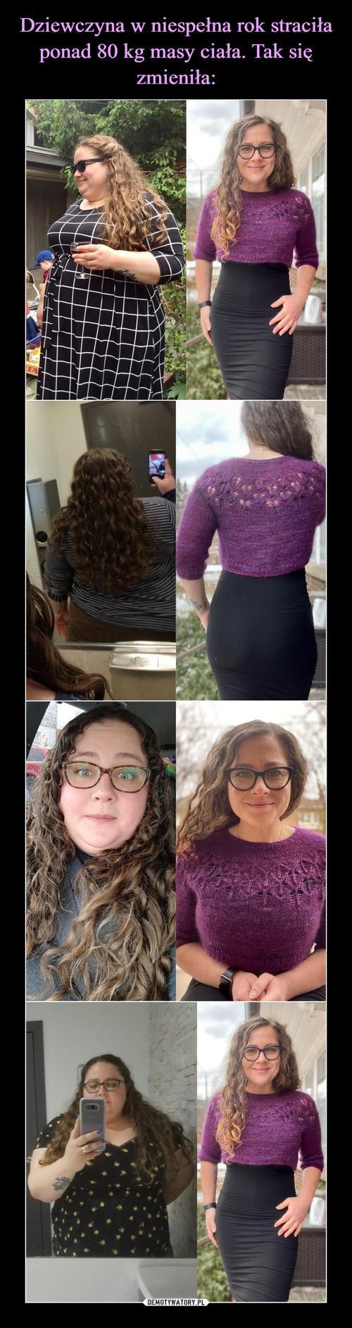 Dziewczyna w niespełna rok straciła ponad 80 kg masy ciała. Tak się zmieniła: