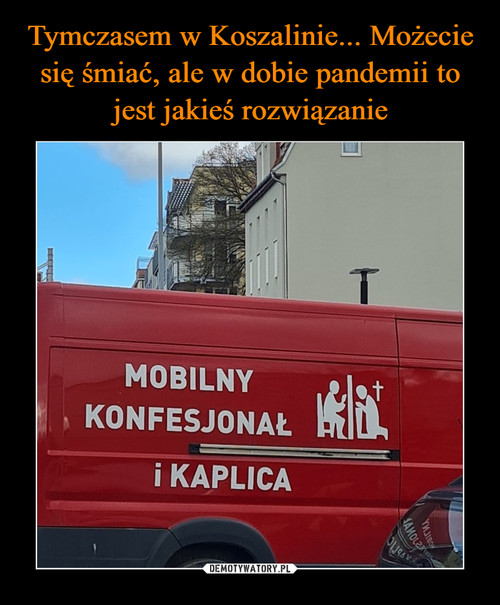 Tymczasem w Koszalinie... Możecie się śmiać, ale w dobie pandemii to jest jakieś rozwiązanie