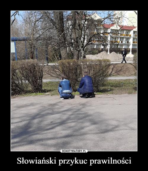 Słowiański przykuc prawilności