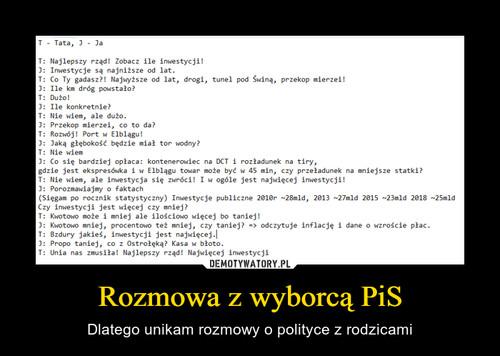Rozmowa z wyborcą PiS