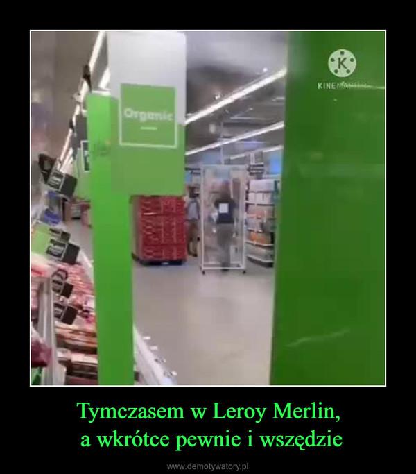Tymczasem w Leroy Merlin, a wkrótce pewnie i wszędzie –