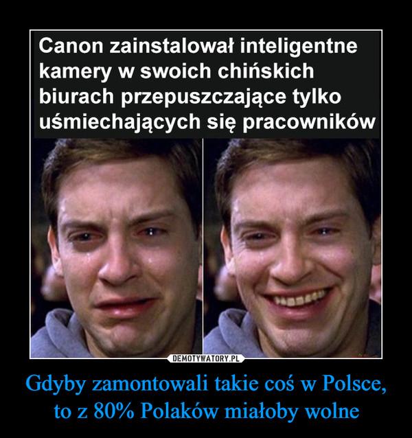 Gdyby zamontowali takie coś w Polsce, to z 80% Polaków miałoby wolne –