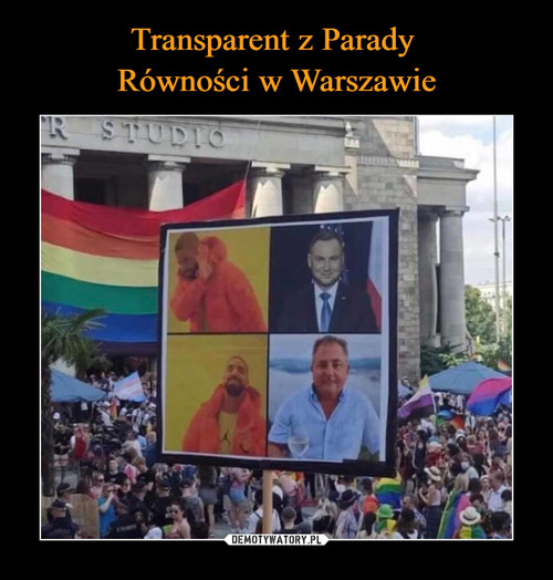 Transparent z Parady  Równości w Warszawie