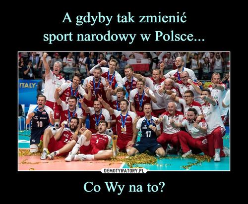 A gdyby tak zmienić sport narodowy w Polsce... Co Wy na to?