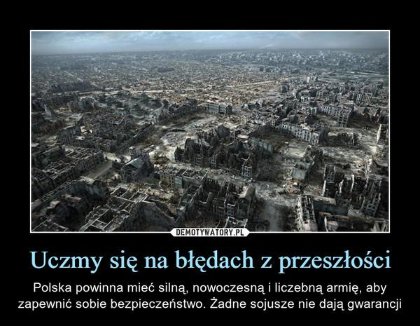 Uczmy się na błędach z przeszłości – Polska powinna mieć silną, nowoczesną i liczebną armię, aby zapewnić sobie bezpieczeństwo. Żadne sojusze nie dają gwarancji