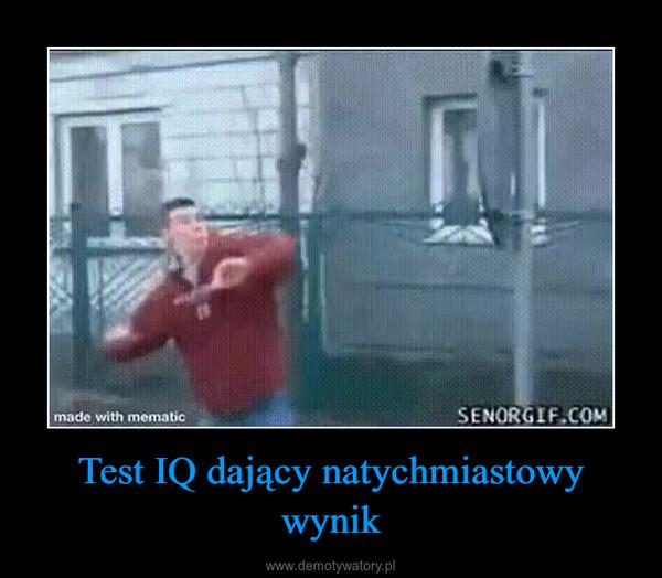 Test IQ dający natychmiastowy wynik –