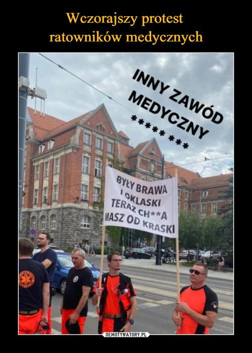 Wczorajszy protest  ratowników medycznych