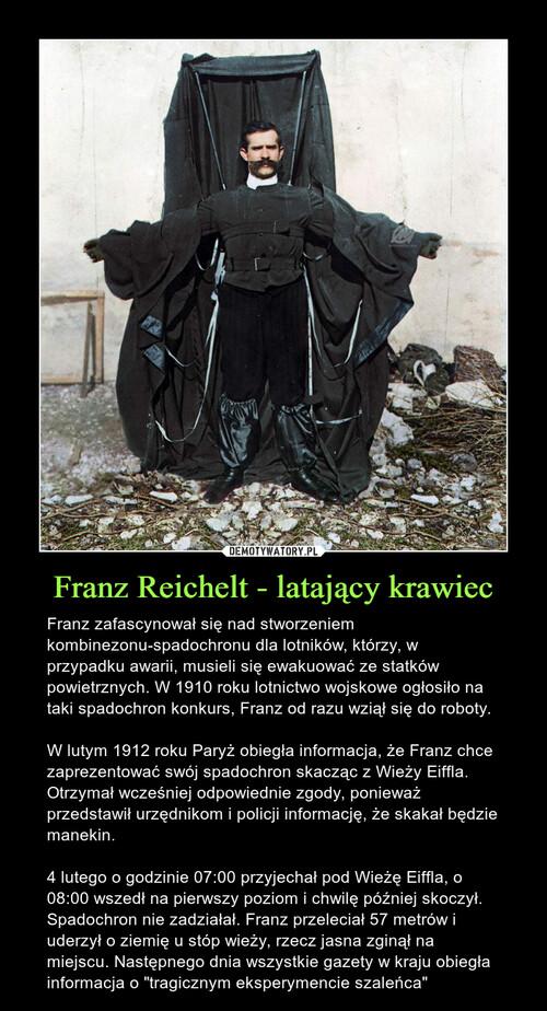 Franz Reichelt - latający krawiec