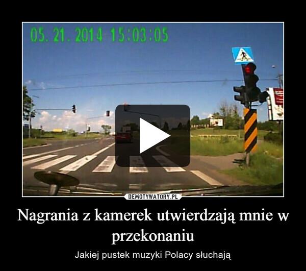 Nagrania z kamerek utwierdzają mnie w przekonaniu – Jakiej pustek muzyki Polacy słuchają