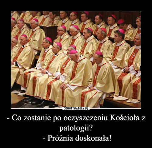 - Co zostanie po oczyszczeniu Kościoła z patologii?  - Próżnia doskonała!