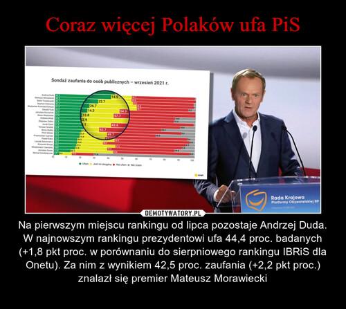 Coraz więcej Polaków ufa PiS