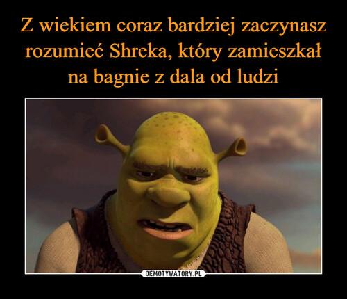 Z wiekiem coraz bardziej zaczynasz rozumieć Shreka, który zamieszkał na bagnie z dala od ludzi